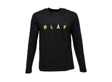 Olaf Hussein Chain Stitch Longsleeve Black SS19 0015