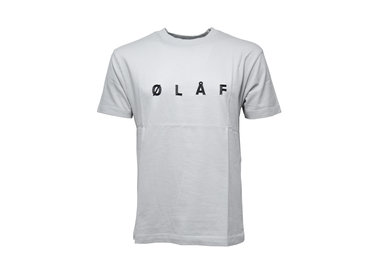 Olaf Hussein Chain Stitch Tee Grey SS19 0008