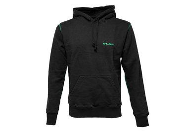 Olaf Hussein Italic Hoodie Black Green Capsule 0031