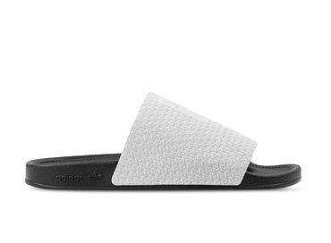 Adidas Adilette Luxe Grey Two Core Black Gold Metallic DA8930