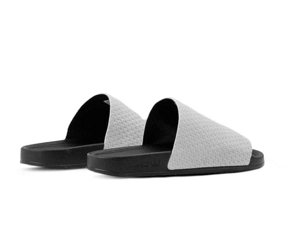 Adidas Adilette Luxe Grey Two Core Black Gold Metallic DA8930