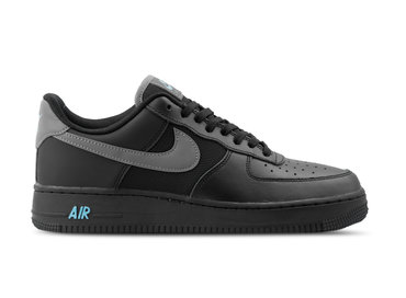 2ac92c7b244d00 Nike Air Force 1  07 LV8 Black Cool Grey Blue Fury BV1278 001