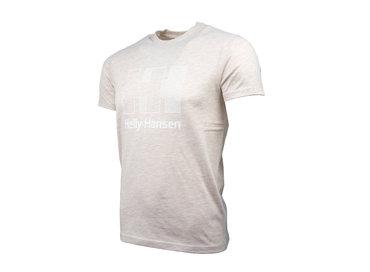 Helly Hansen Logo T Shirt Oatmeal Melange 53165 946