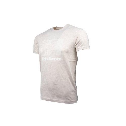 Logo T Shirt Oatmeal Melange 53165 946