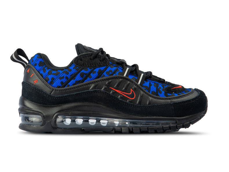 d705942b53 Nike WMNS Air Max 98 Black Habanero Red Racer Blue BV1978 001 ...