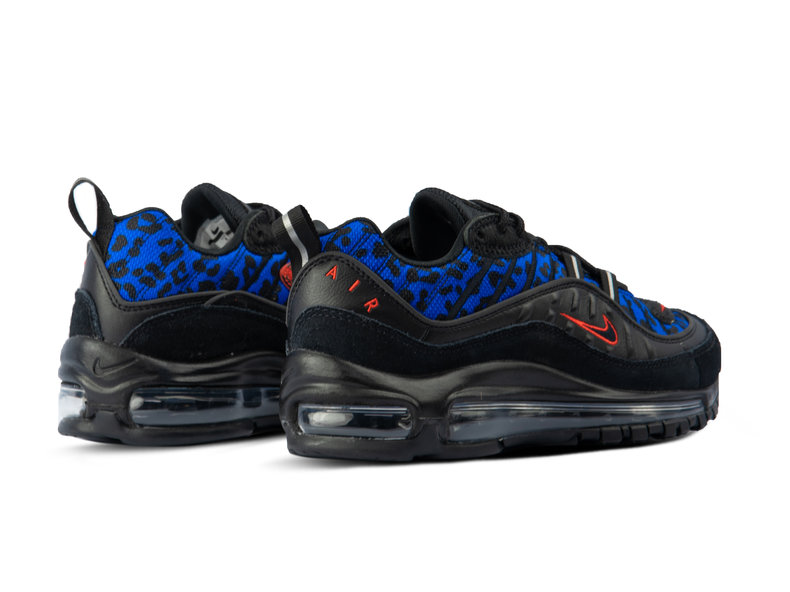 WMNS Air Max 98 Black Habanero Red Racer Blue BV1978 001