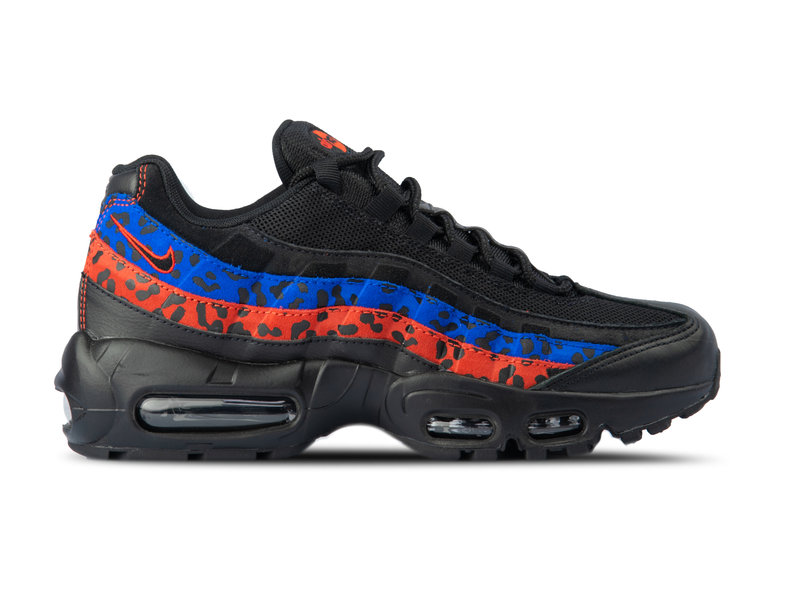4be58d37472a Nike WMNS Air Max 95 Black Black Habanero Red Racer Blue CD0180 001 ...