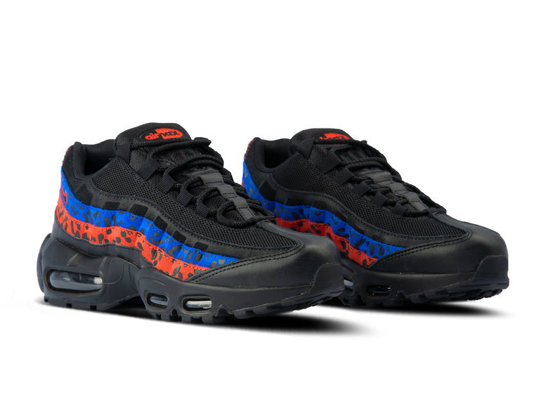 outlet store sale 88dd3 0f3b6 WMNS Air Max 95 Black Black Habanero Red Racer Blue CD0180 001