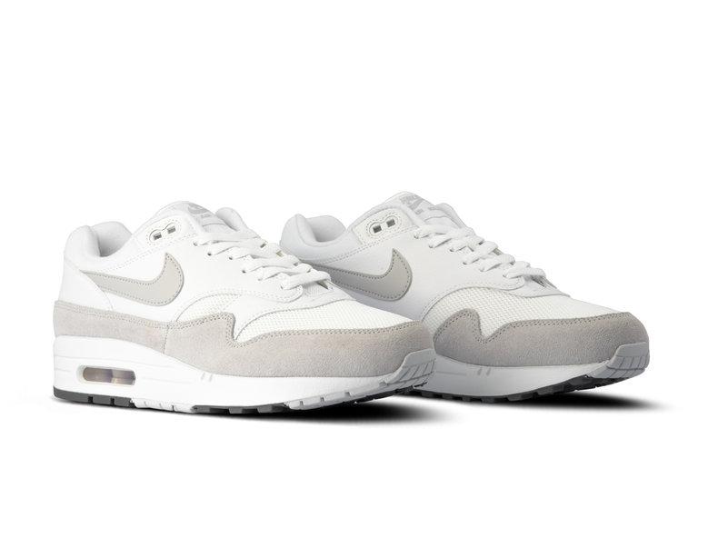 8c3db114a809 Nike Air Max 1 White Pure Platinum Cool Grey AH8145 110