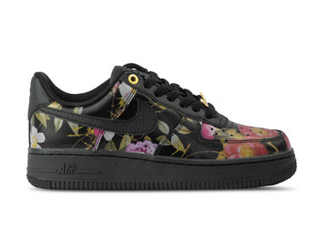 Nike WMNS Air Force 1 '07 LXX Black Black Metallic Gold AO1017 002