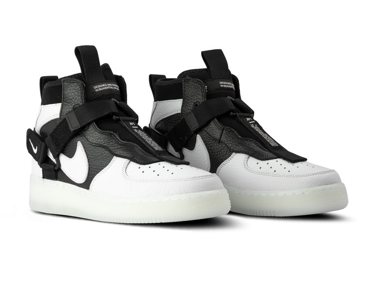 official photos 91301 bc749 Air Force 1 Utility Mid Off White Black White AQ9758 100