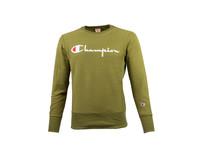 Champion Crewneck Sweatshirt Logo Green 212576 S19 GS543