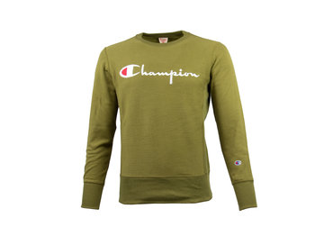 Champion Crewneck Sweatshirt Logo Green 212576 S19 GS543