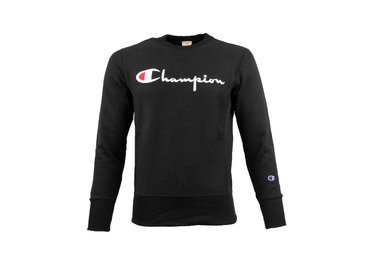 Champion Crewneck Sweatshirt Logo Black 212576 S19 KK001