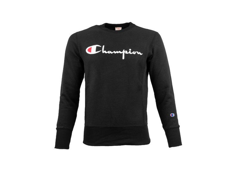 42a6908dbdf9 Champion Crewneck Sweatshirt Logo Black 212576 S19 KK001