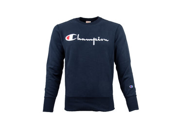 Champion Crewneck Sweatshirt Logo Navy 212572 S19 BS501