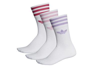 Adidas Mid Cut Crew Sock White Purglo ED1130