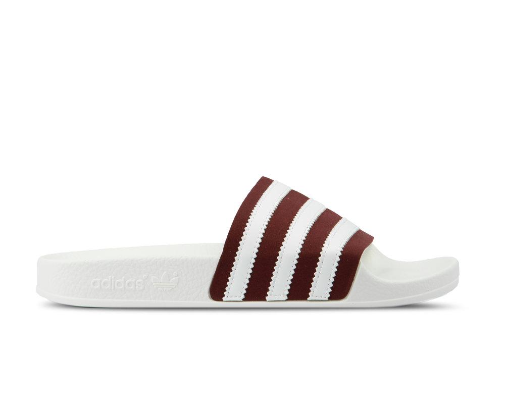 Adidas Adilette Core Burgundy Footwear White Off White BD7574