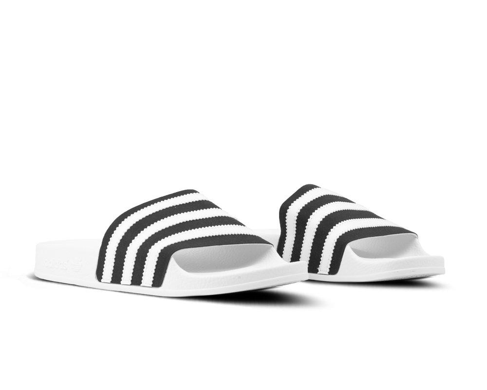 Adidas Adilette Core Black Footwear White Off White BD7592
