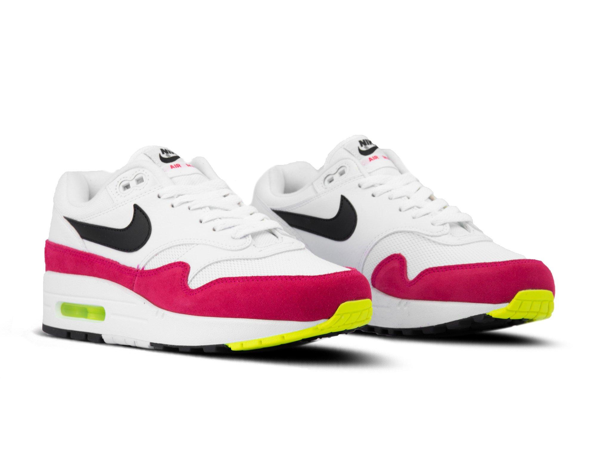 Nike Air Max 1 White Black Volt Rush Pink AH8145 111 | Bruut