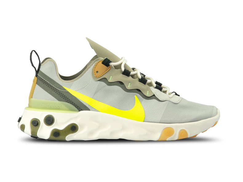 824f659639e Nike React Element 55 Spruce Aura Volt Spruce Fog BQ6166 009 | Bruut ...