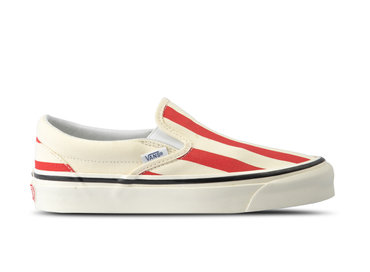 Vans Classic Slip On 9 Anaheim Factory OG White Red VN0A3JEXVN21