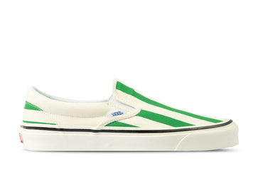 Vans Classic Slip On 9 Anaheim Factory OG White Green VN0A3JEXVN11