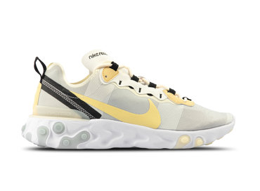 Nike React Element 55 White Pale Vanilla Black BQ6166 101