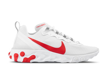 Nike React Element 55 SE SU19 White University Red BQ6167 102