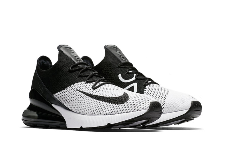 5d4a2f1de5a7 Nike Air Max 270 Flyknit White Black Anthracite AO1023 100