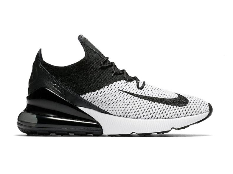 eda9a286077b Nike Air Max 270 Flyknit White Black Anthracite AO1023 100