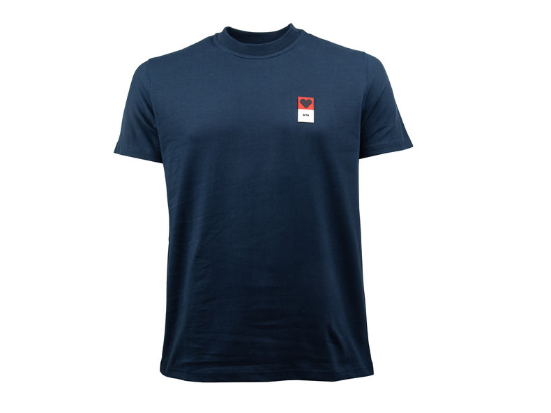 T Shirt Troy Heart Patch Navy SS19 026