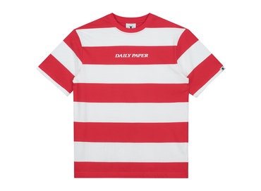 Daily Paper Striped T Shirt Red White 19R1TS02 01