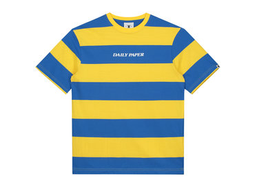 Daily Paper Striped T Shirt Blue Yellow 19R1TS02 04