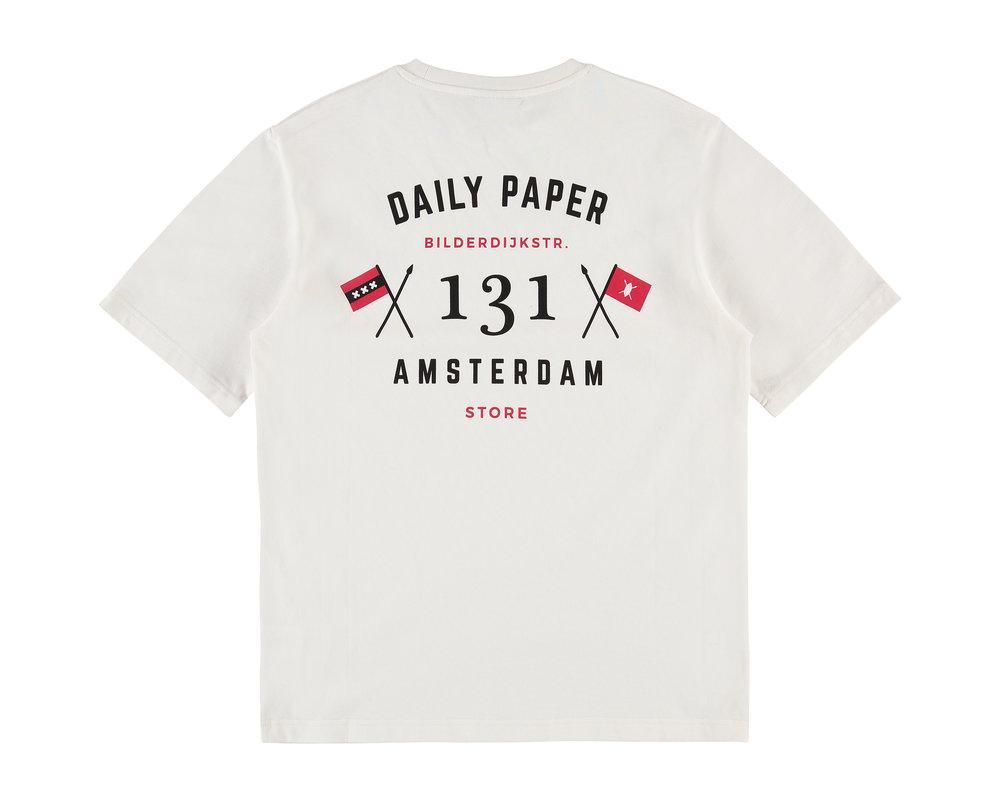 Daily Paper Amsterdam Store T Shirt White 19E1TS01 02