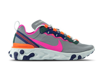 Nike W React Element 55 Wolf Grey Laser Fuchsia BQ2728 006