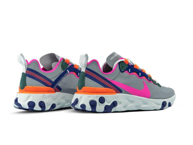 be8faa40f Nike W React Element 55 Wolf Grey Laser Fuchsia BQ2728 006