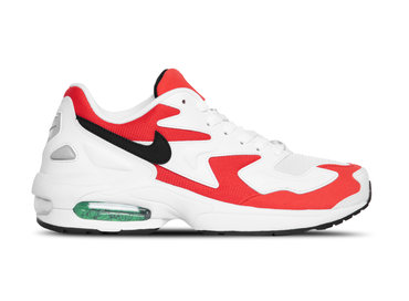 Nike Air Max2 Light White Black Habanero Red AO1741 101