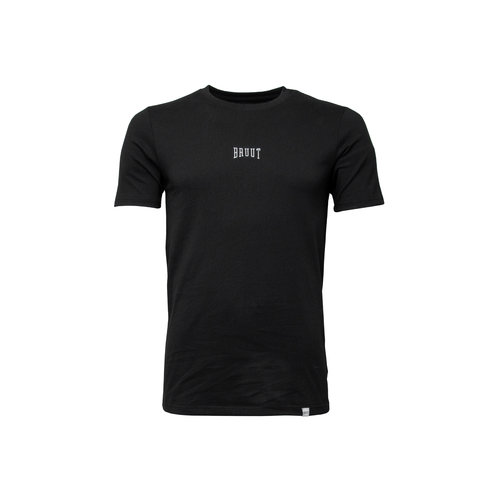 Embroided Logo Tee Black White HFD013