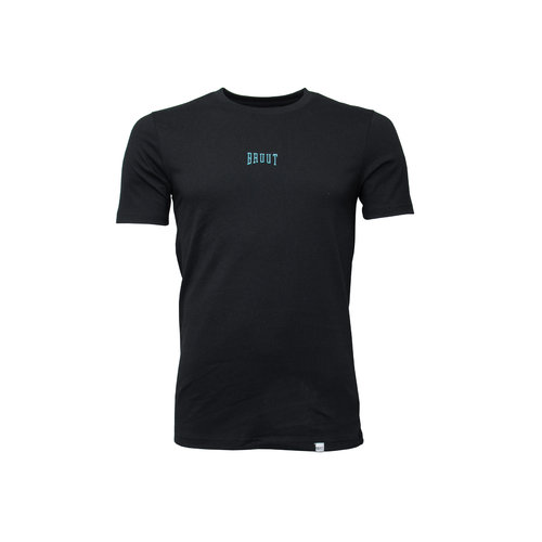 Embroided Logo Tee Black Teal HFD016