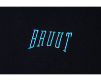 Bruut Embroided Logo Tee Black Teal HFD016