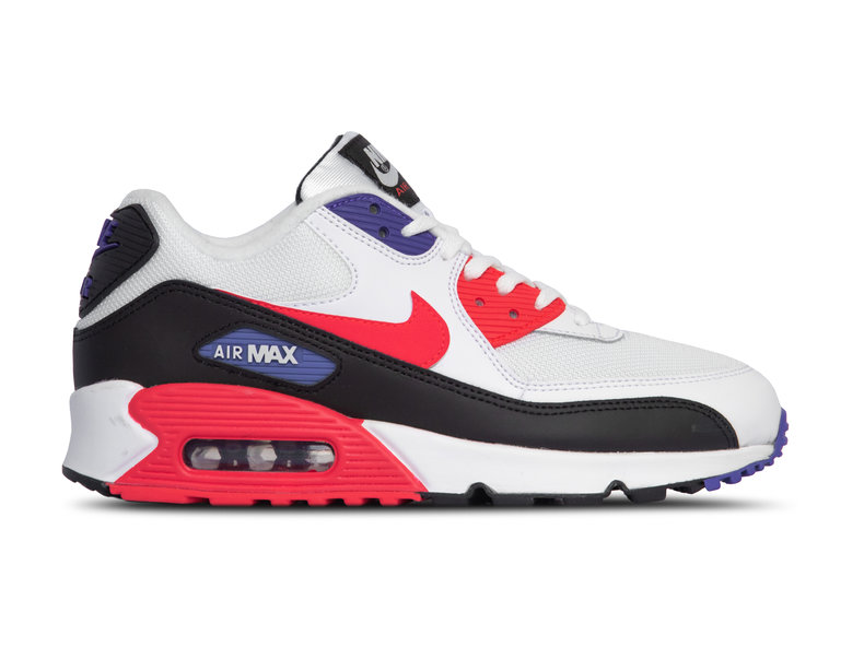 new concept 58a7c 45a9c Air Max 90 Essential White Red Orbit Psychic Purple Black AJ1285 106