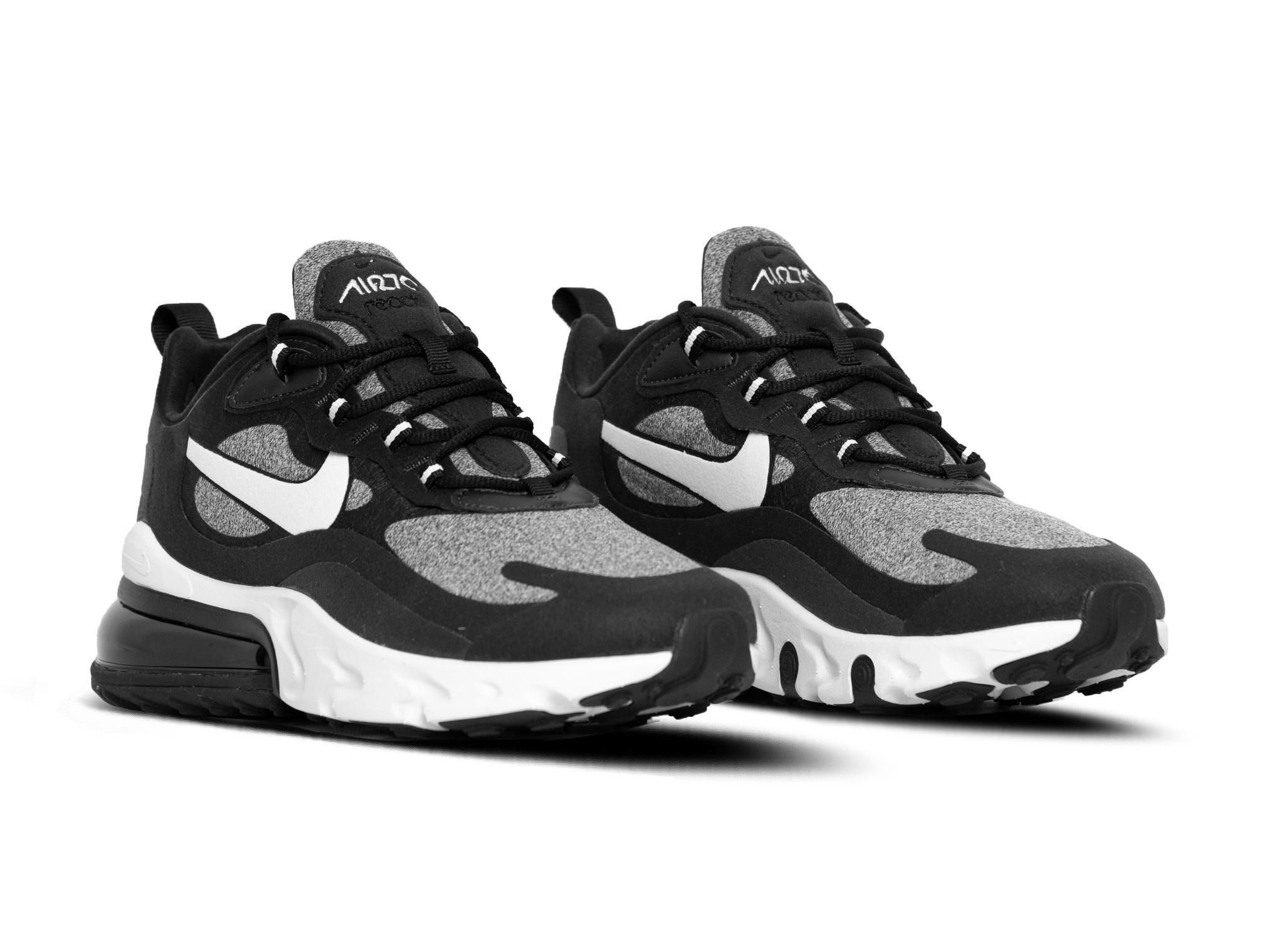 Nike Air Max 270 React Black Vast Grey AO4971 001