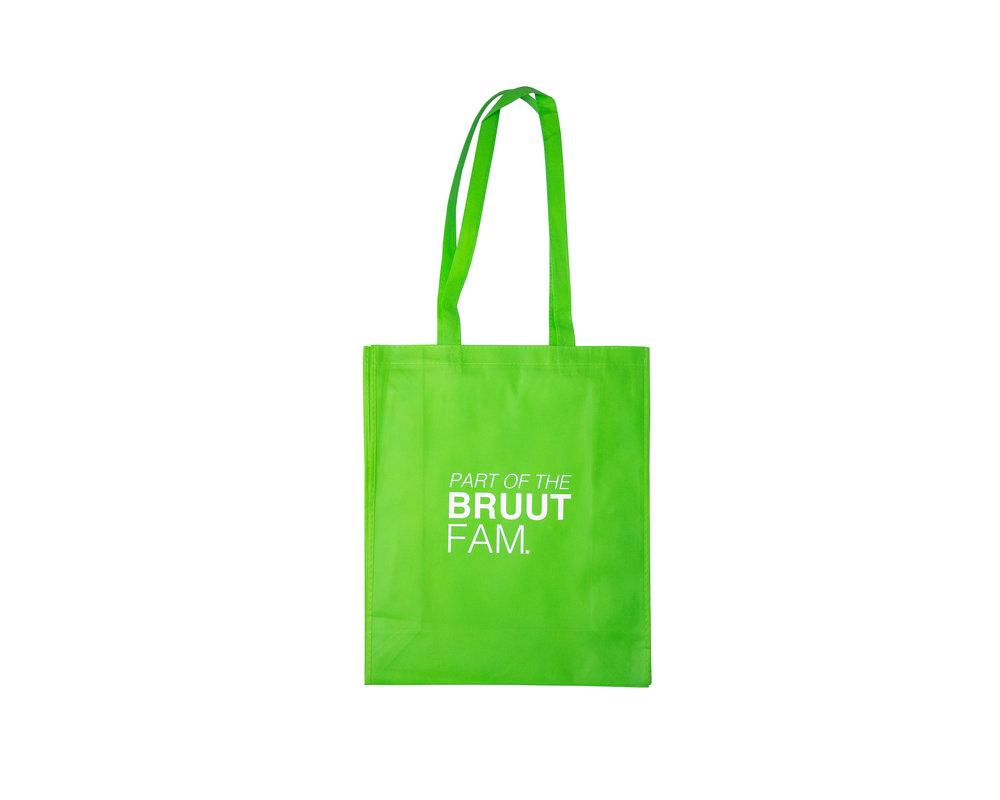 Bruut Exclusive Totebag  Neon/Green