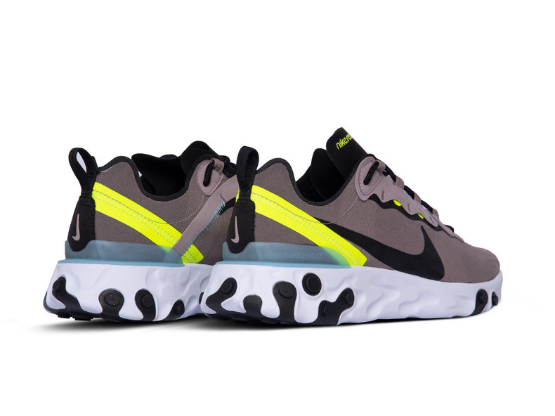 React Element 55 Pumice Black White Blue Chill BQ6166 201