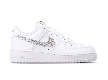 Nike Air Force 1 '07 LV8 JDI LNTC White Black Total Orange BQ5361 100