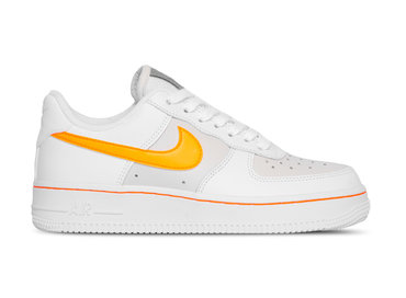 Nike W Air Force 1 Lo  White Total Orange  Cj9699 100