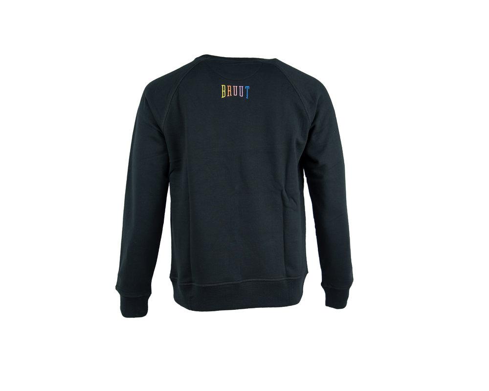 Bruut Niban Basic Crewneck Black Rainbow HFD211