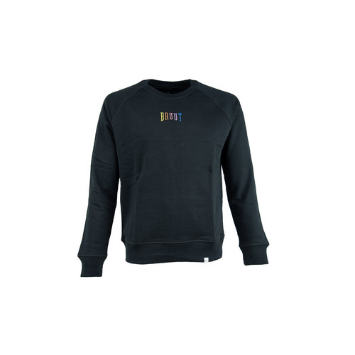 Niban Basic Crewneck Black Rainbow HFD211