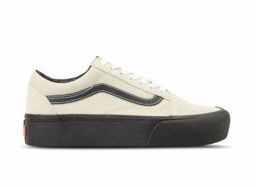 Vans Old Skool Platform Suede Blanc De Blanc Black VN0A3B3UOIP